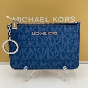 Michael Kors Small Top Zip Coin Pouch ID Card Wal